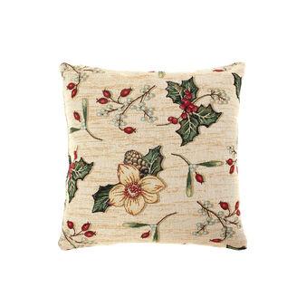 Gobelin cushion with holly pattern