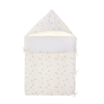 Cotton sleep sack with tree and deer print