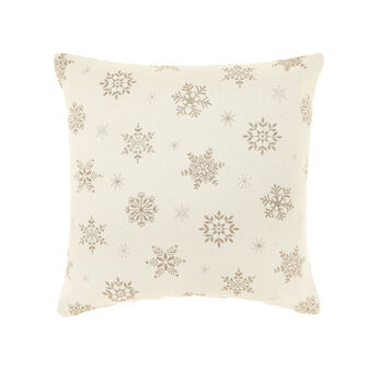 100% cotton cushion with snowflakes pattern