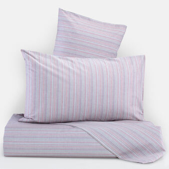 100% cotton duvet cover set with multiple stripes