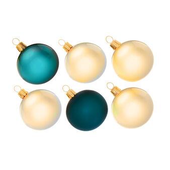 Set of 4 Christmas glass baubles D 5cm
