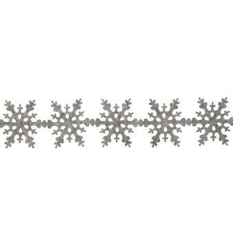 Felt snowflake garland