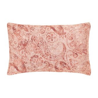 Paisley pillowcase in cotton satin