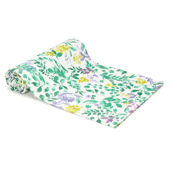 Throw in 100% cotton with botanical print