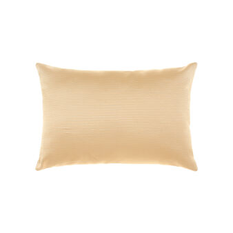 Grosgrain and linen cushion