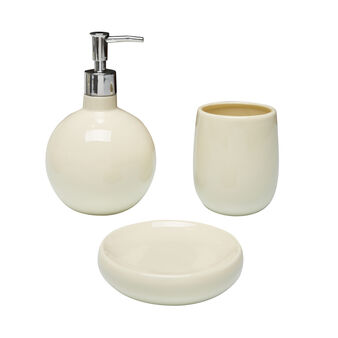 set 3 accessori bagno ceramica
