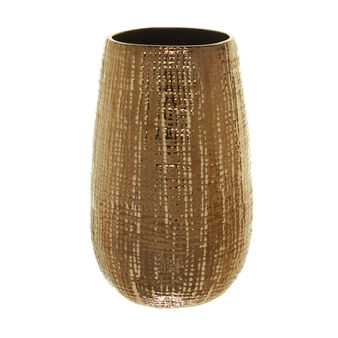Vaso in ceramica effetto metallo brunito