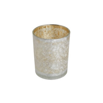 Candle holder vase with ice effect