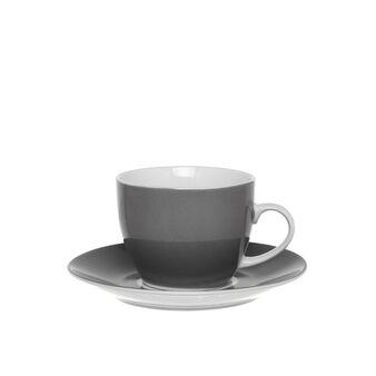 Grey porcelain tea cup