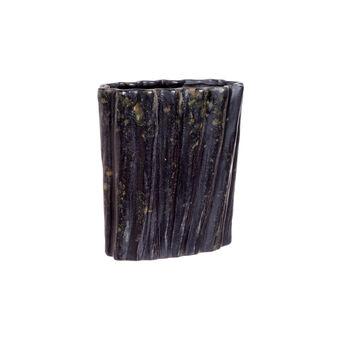 Bark-effect ceramic vase