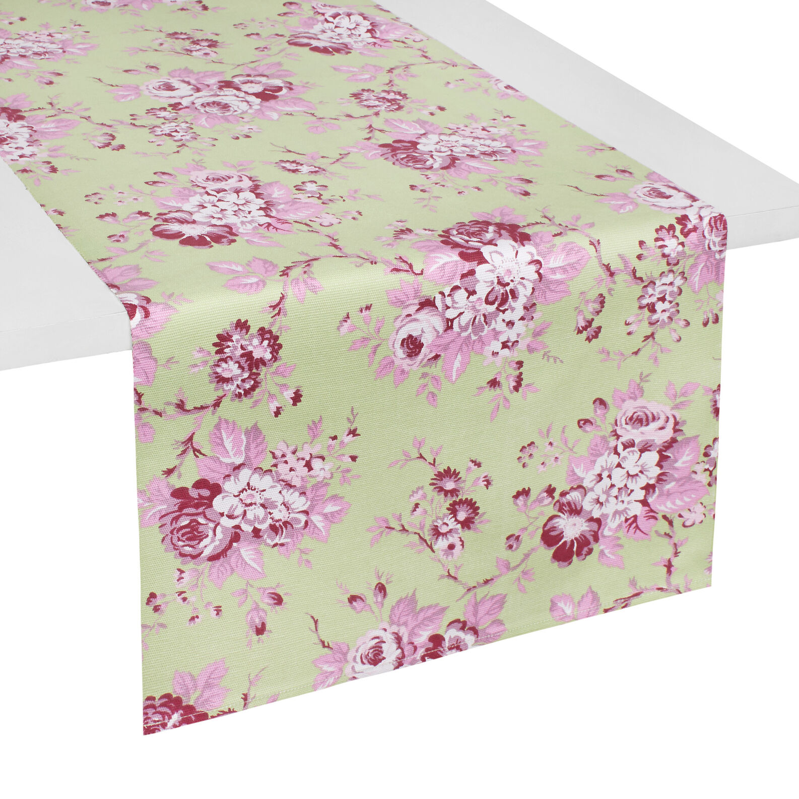 100 cotton table runner with blossom floral print coincasa