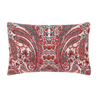 Paisley cotton percale pillowcase