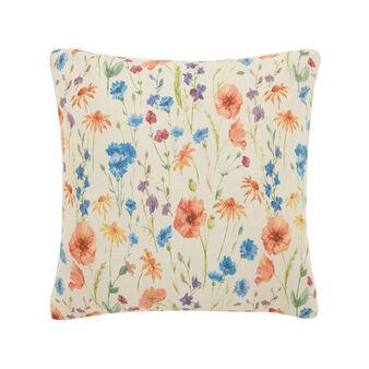 Cuscino cotone stampa fiori di prato