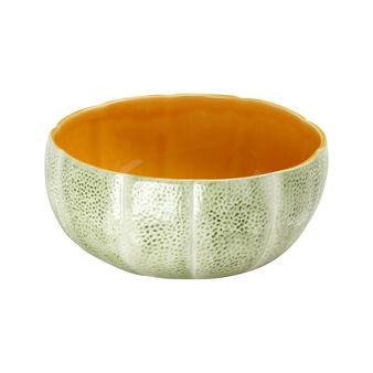 Portuguese ceramic salad bowl with melon