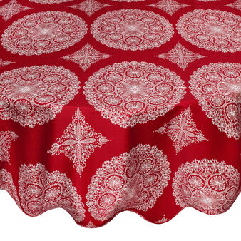 100% cotton round tablecloth with Ornament print