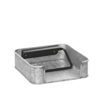 Napkin holder with galvanized finish