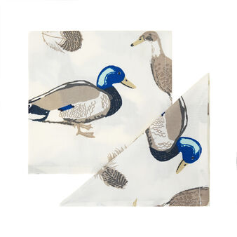 Ducks two-pack napkins in 100% cotton