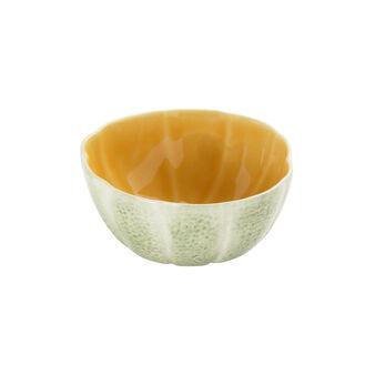 Small Portuguese ceramic bowl with melon