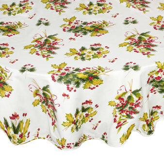 100% cotton round tablecloth with Berry print