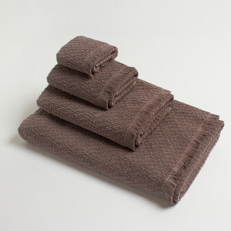 100% cotton towel with fringe