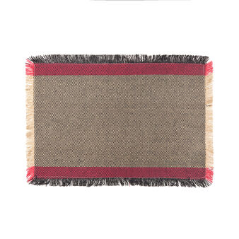 100% cotton table mat with fringes