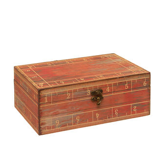 Wooden box with a vintage print
