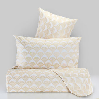 Cotton percale bed linen set with liberty print