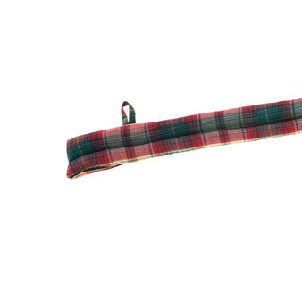 Tartan draught excluder in 100% cotton twill