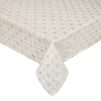 Jacquard tablecloth with lurex