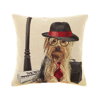 Gobelin cushion with Yorkshire terrier pattern