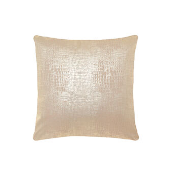 Faux leather printed cushion with python texture