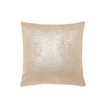 Cuscino stampa finta pelle texture pitone