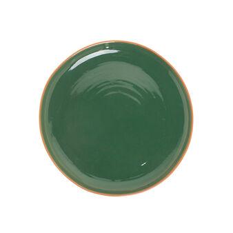Portuguese ceramic serving platter with edging