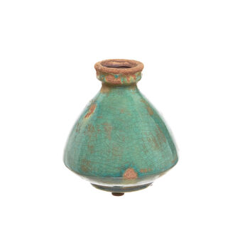 Bottle vase with distressed effect.