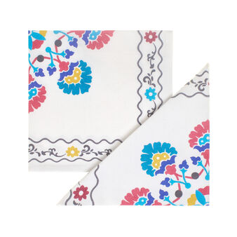 Two-pack majolica napkins 100% cotton