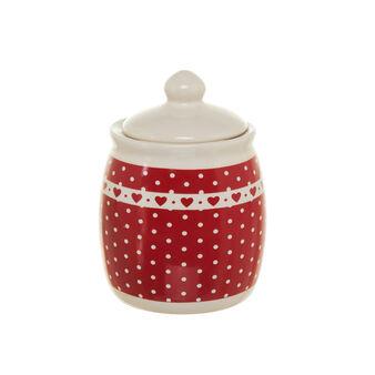Polka dot ceramic sugar bowl