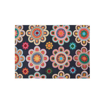 Reversible table mat with Gipsy Flower print
