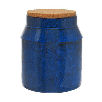 Denim-effect Portuguese ceramic container