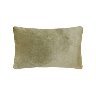 Rectangular cushion in two shades of velvet