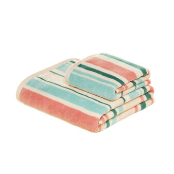 100% cotton towel with striped pattern