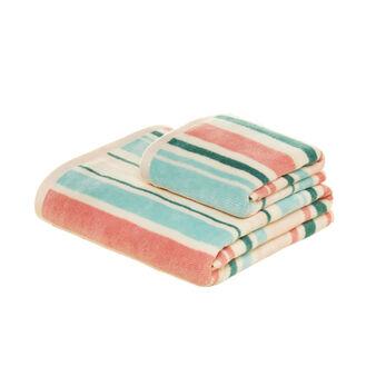 Asciugamano in puro cotone fantasia a righe