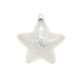 Decorazione natalizia vetro stella D 10cm