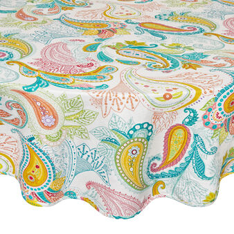 Round tablecloth in 100% cotton
