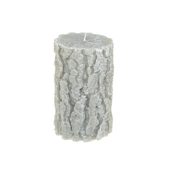 Bark-effect wax candle