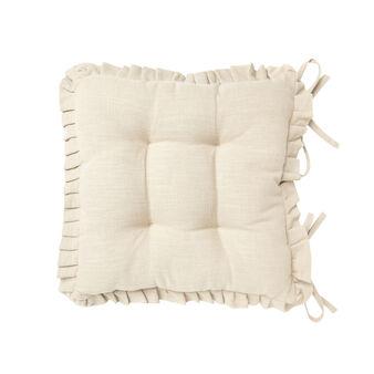 Burano seat pad with flounce