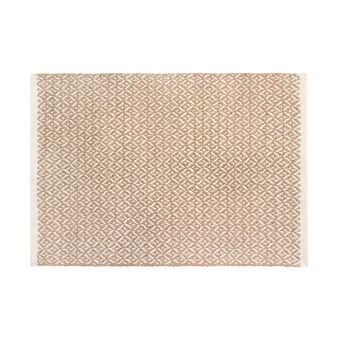 Cotton bath mat with geometric pattern