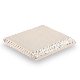 Coperta in misto cotone con frange
