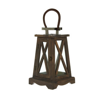 Lanterna in vetro e legno