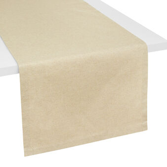 Mélange table runner with lurex