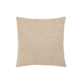 Cushion with herringbone motif